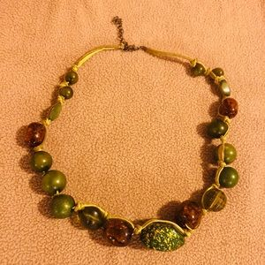 Jewelry - 🌾 Chunky Green and Brown Statement Necklace
